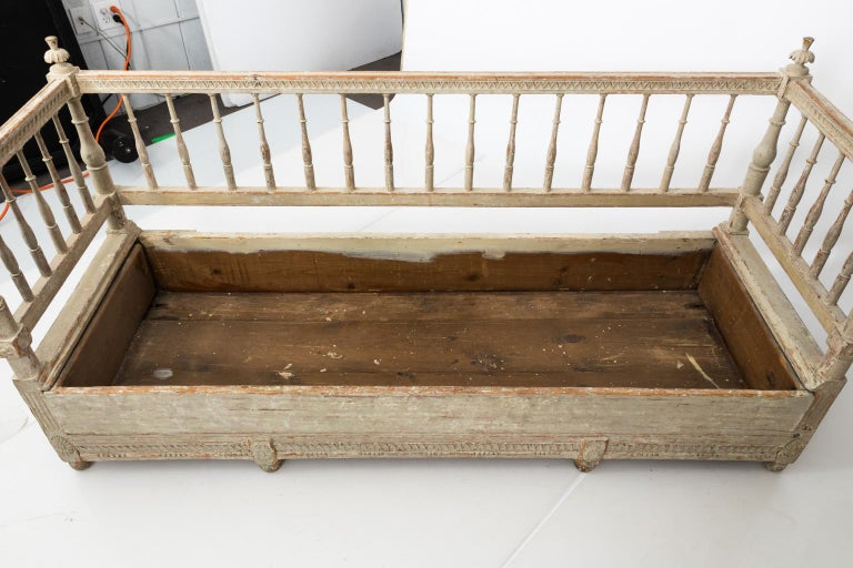 18th Century Gustavian Painted Sofa, circa 1790s For Sale