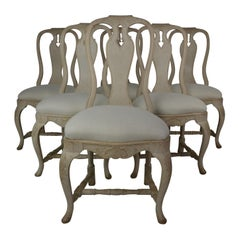 Gustavian Rococo  Style Dining Chairs Set of 6