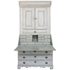 Gustavian Secretary with Carved Detail