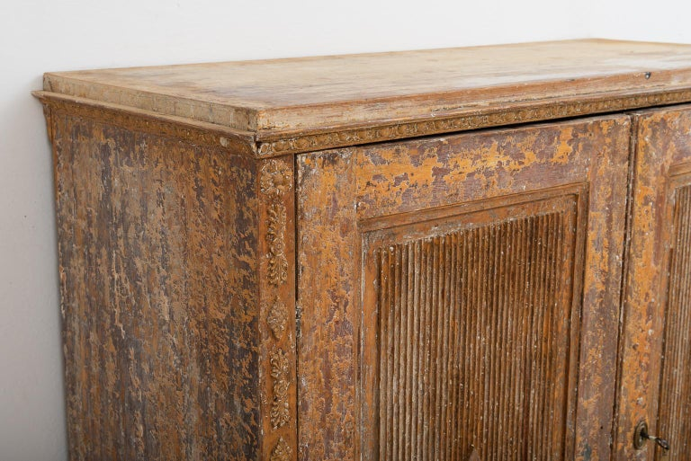 Gustavian Sideboard with Rustic Patina Manufactured, 1790 For Sale 3