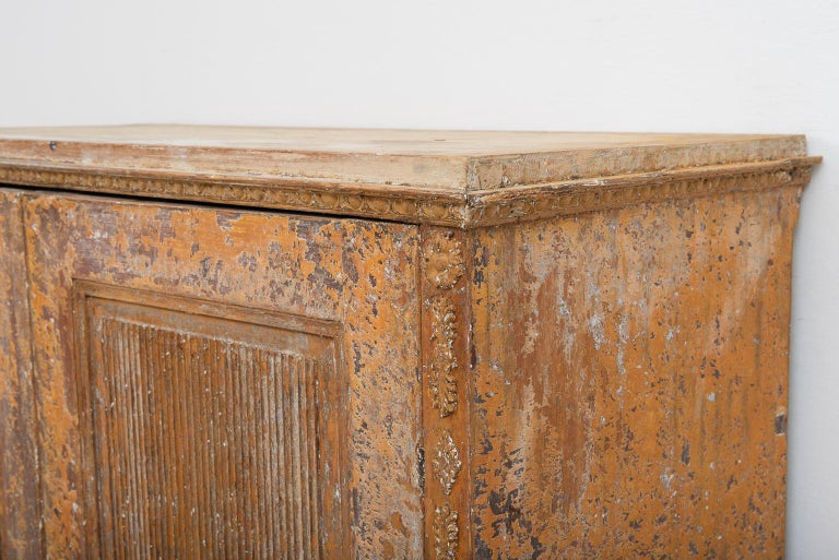 Gustavian Sideboard with Rustic Patina Manufactured, 1790 For Sale 4