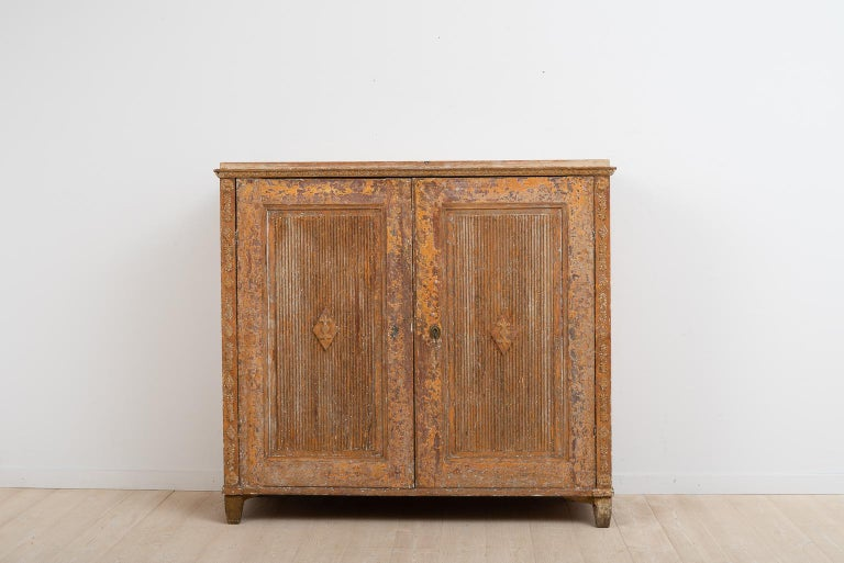 Swedish Gustavian Sideboard with Rustic Patina Manufactured, 1790 For Sale