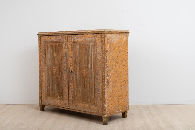 18th Century Gustavian Sideboard with Rustic Patina Manufactured, 1790 For Sale