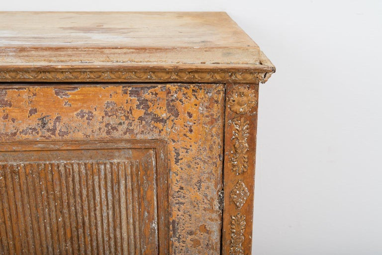 Gustavian Sideboard with Rustic Patina Manufactured, 1790 For Sale 1