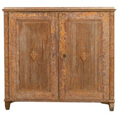 Gustavian Sideboard with Rustic Patina Manufactured, 1790