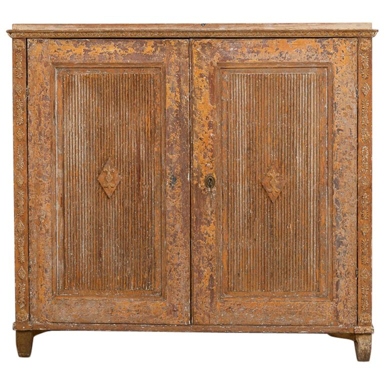Gustavian Sideboard with Rustic Patina Manufactured, 1790 For Sale