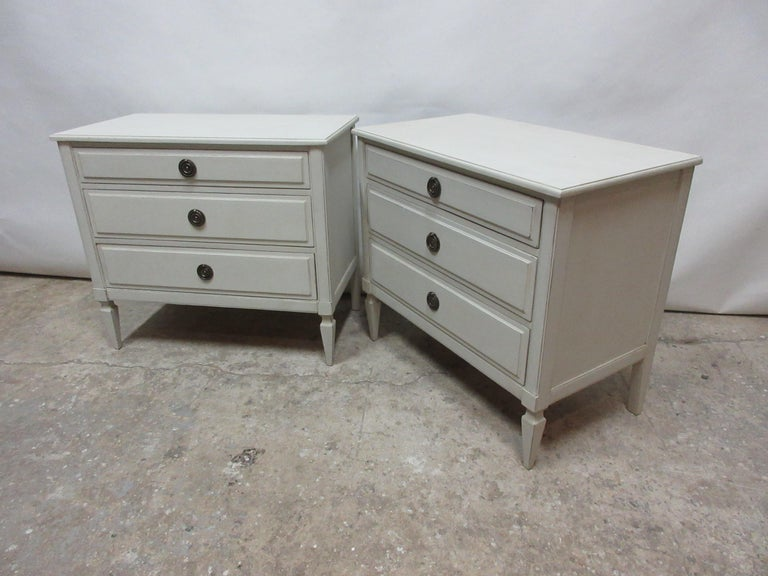 Swedish Gustavian Style 3-Drawer Chest  For Sale