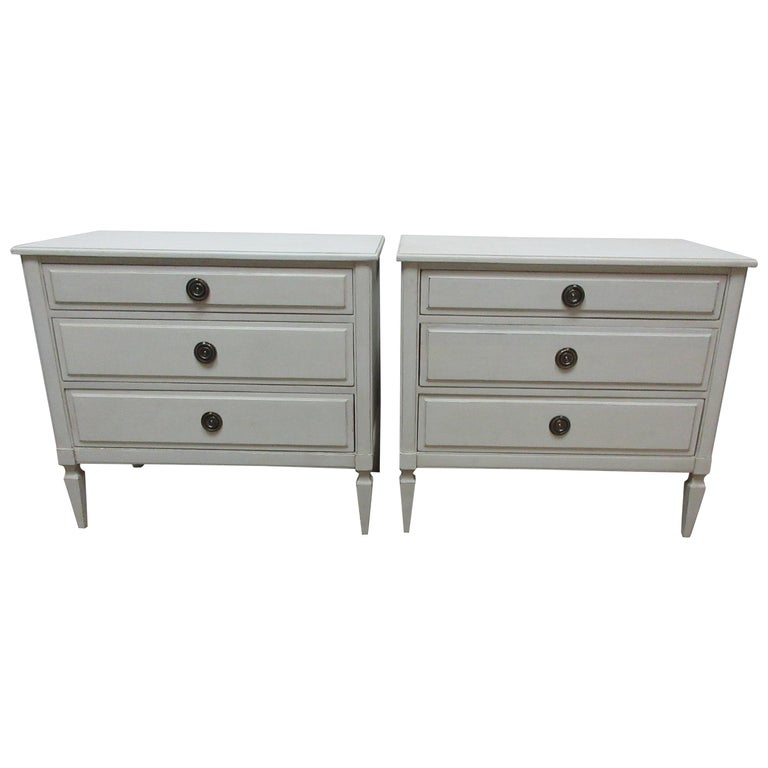 Gustavian Style 3-Drawer Chest  For Sale