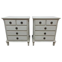 Gustavian Style 5-Drawer Nightstands