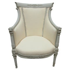 Gustavian Style Barrel Chair