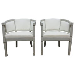 Gustavian Style Barrel Chairs