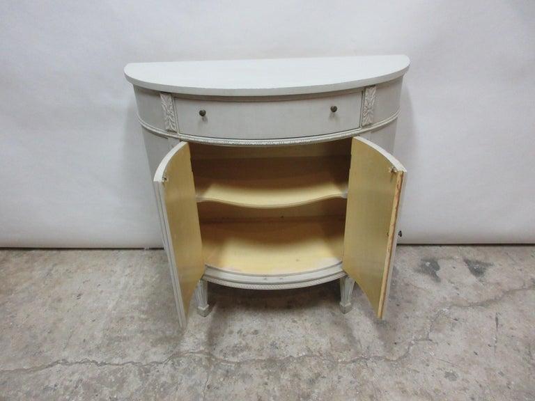 Swedish Gustavian Style Barrel Console For Sale