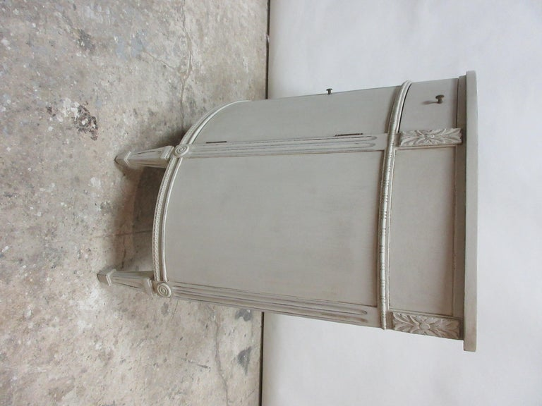 Mid-20th Century Gustavian Style Barrel Console For Sale
