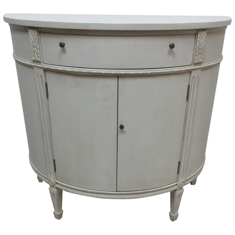 Gustavian Style Barrel Console For Sale
