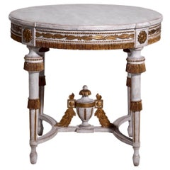 Gustavian Style Center Table, Late 19th Century