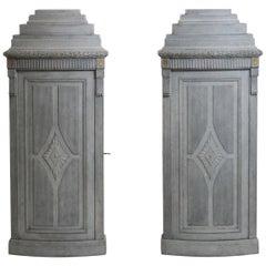 Gustavian Style Corner Cabinets