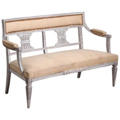 Gustavian style freestanding bench, 19th C.