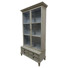 Gustavian Style Glass Top Cabinet