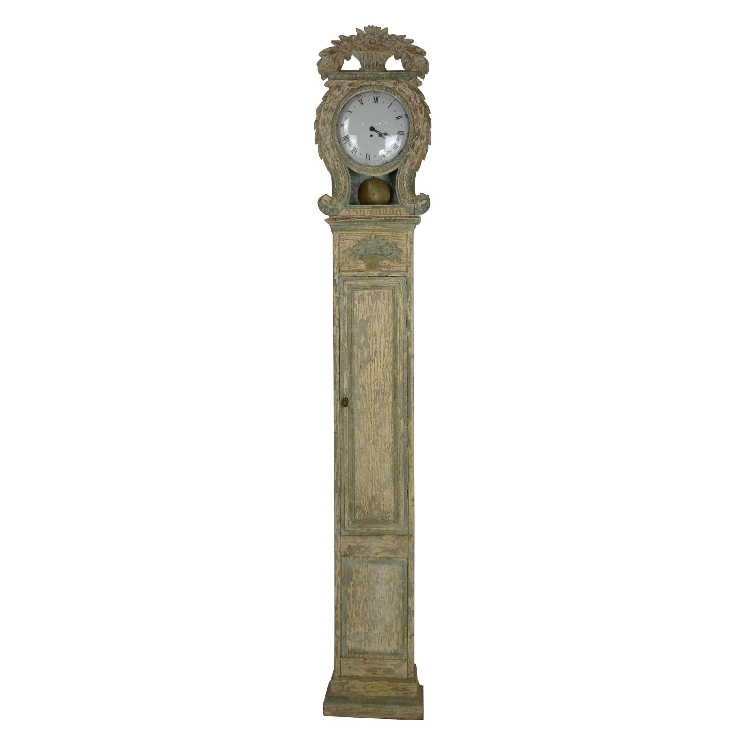 Gustavian Style Grandfather Clock