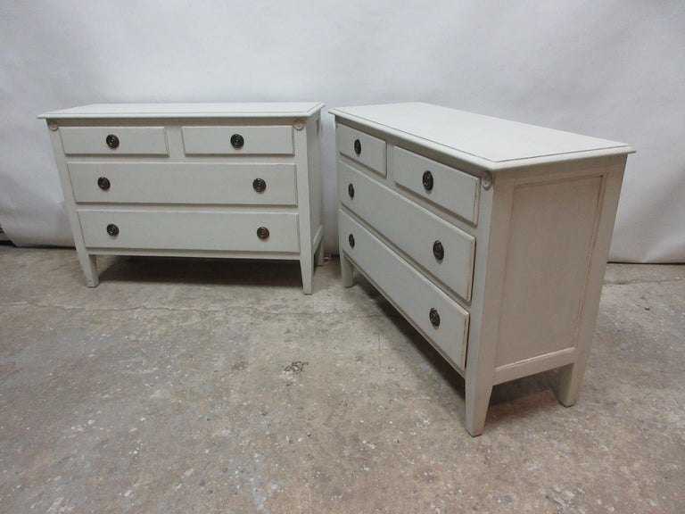 Swedish Gustavian Style Matching Chests For Sale