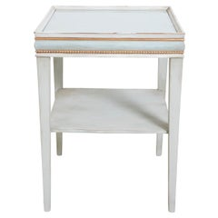 Gustavian Style Painted and Gilt Side Table