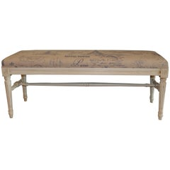 Gustavian Style Painted Bench Available for Custom Order