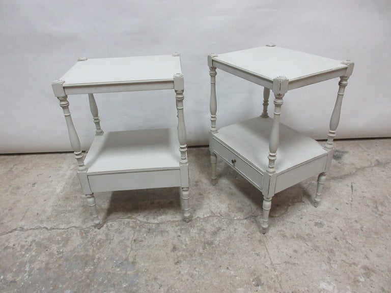 Swedish Gustavian Style Side Tables  For Sale