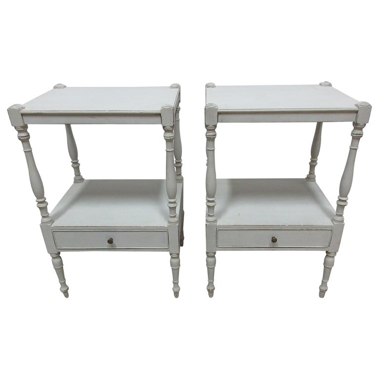 Gustavian Style Side Tables  For Sale