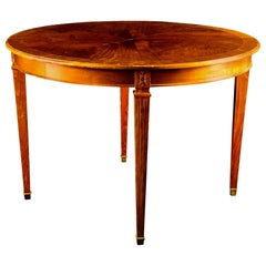 Gustavian Swedish Extendable Dining Table Mahogany, Early 20th Century, 2 Leaves