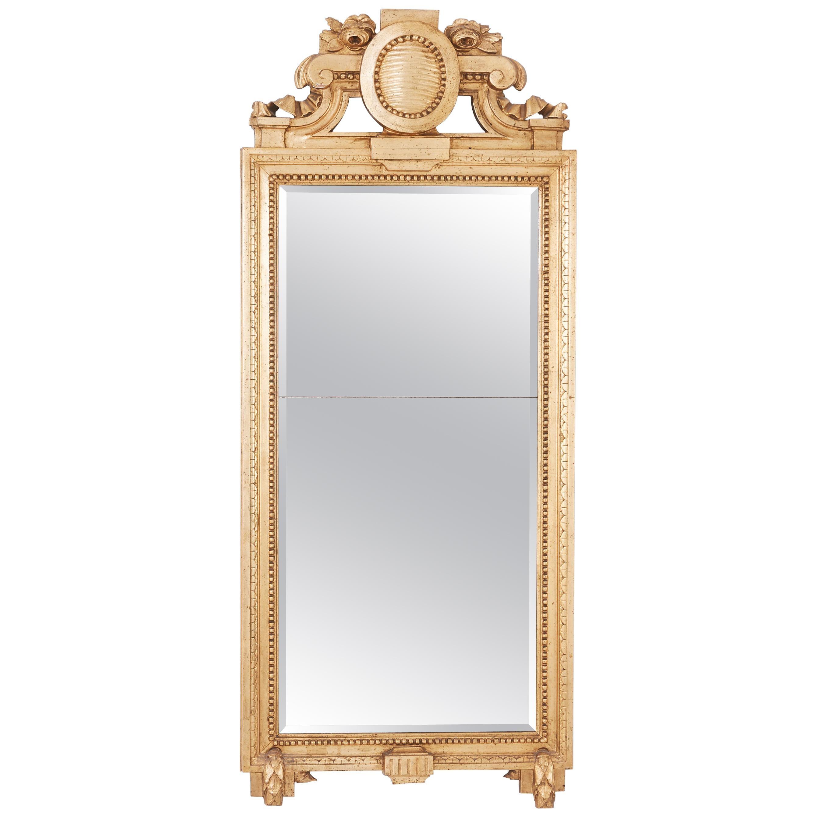 Gustavian Swedish Gilt Mirror, Signed by Carl Gustaf Fyrwald