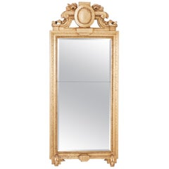 Gustavian Swedish Gilt Mirror, Signed by Carl Gustaf Fyrwald