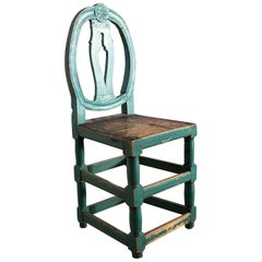 Gustavian Swedish Model Chair, Rare with Eight Stretchers, circa 1770