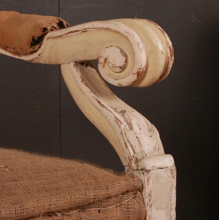 Hand-Painted Gustavian Swedish Sofa For Sale