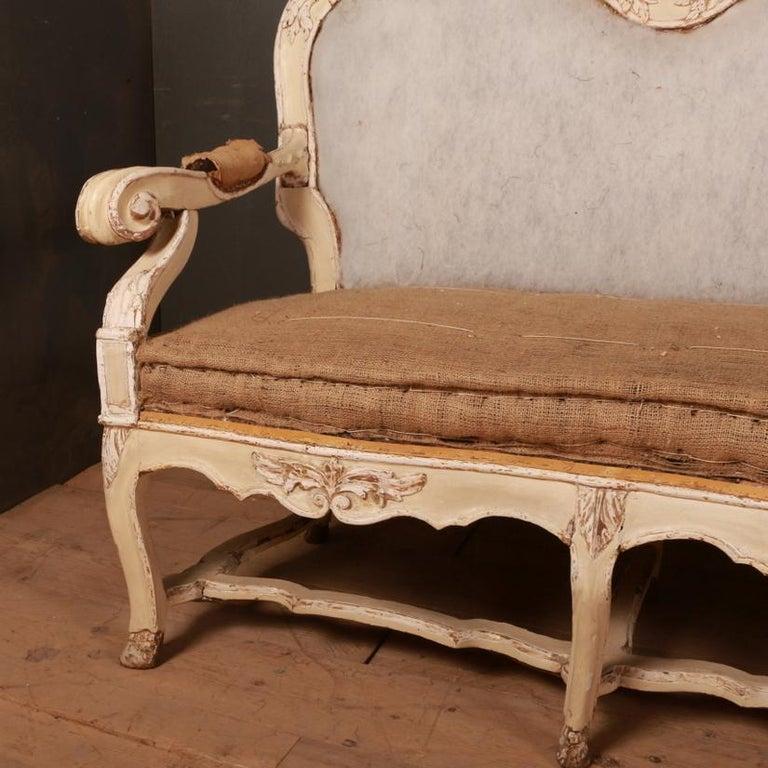 Gustavian Swedish Sofa In Good Condition For Sale In Leamington Spa, Warwickshire