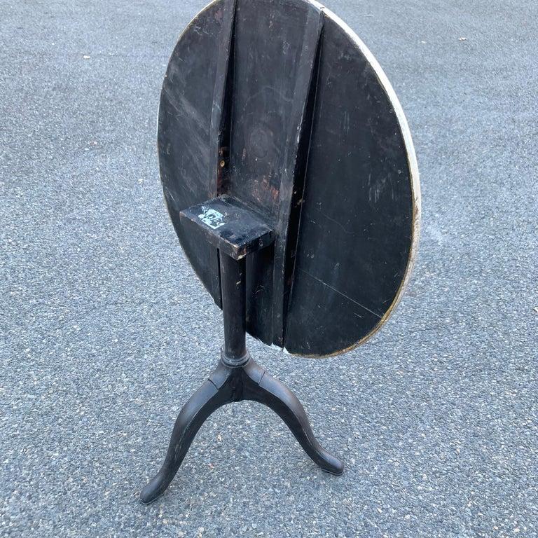 Wood Gustavian Tilt-Top Pedestal Table, Sweden For Sale