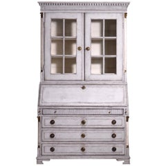 Gustavian two-parts bureau, circa 1780