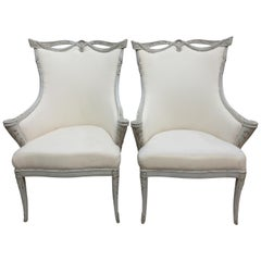 Gustavian Wing Chairs