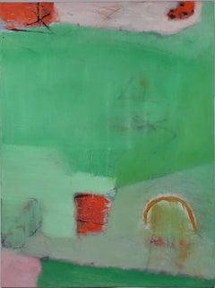 Gustavo Ramos Rivera 'Verano' Large Oil on Canvas Abstract Painting
