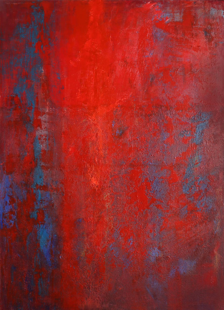 Gustavo Schmidt Abstract Painting - Red II