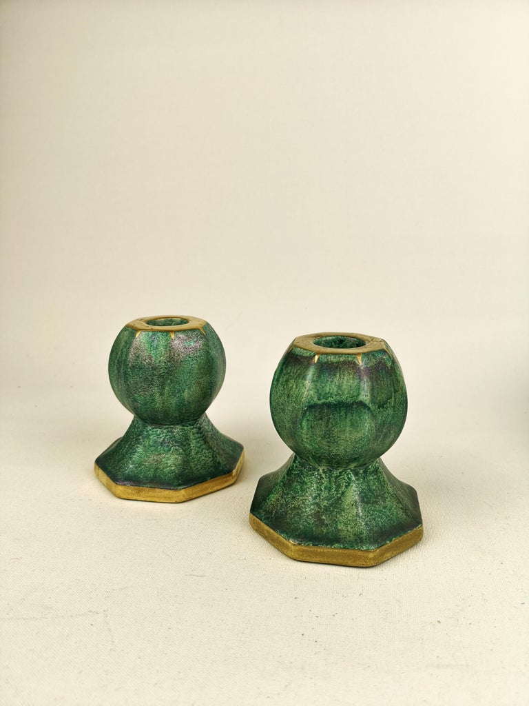 Gustavsberg Art Deco Bowl and Candlesticks Josef Ekberg For Sale 2