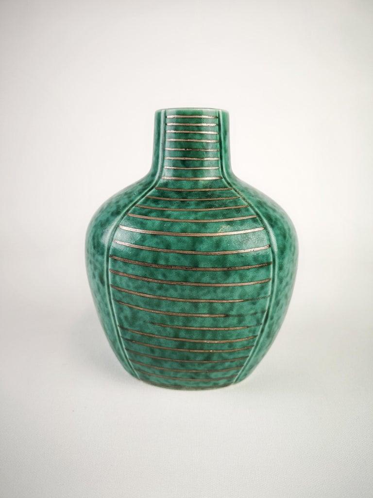 Swedish Gustavsberg Art Deco Vase and Vanity Box Wilhelm Kåge For Sale