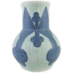 Gustavsberg Sgraffito Art Deco Vase Josef Ekberg