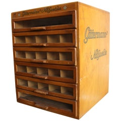 """Gütermann's Nähseide"" Drawer Box, Sewing Silk Cupboard, Haberdashery Cupboard"