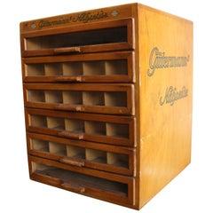 """""""Gütermann's Nähseide"""" Drawer Box, Sewing Silk Cupboard, Haberdashery Cupboard"""
