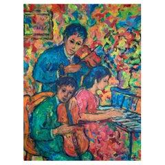 "GUTMAN Nathan (1914-1990) ""Children at the piano"""