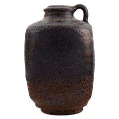 Gutte Eriksen, Own Workshop, Vase with Handle in Glazed Stoneware, 1950s