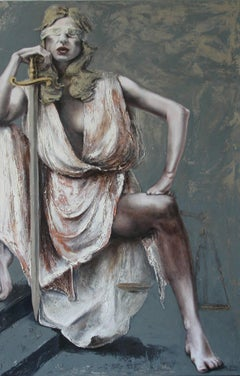 Justice III:  Contemporary Figurative Oil Painting