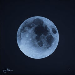 Full Moon  - Guy Allen - Print from an etching - Wooden frame