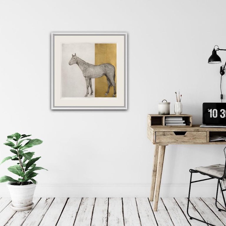 Guy Allen, Equine Gold, Affordable Contemporary Art For Sale 2