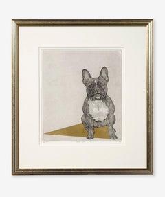 Guy Allen, French Gold, Original Dog Etching, Affordable Art